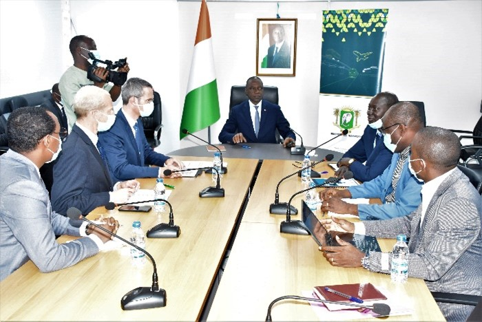 Kick off meeting with H.E. Amadou Kone, Minister of Transport, Ivory Coast.
